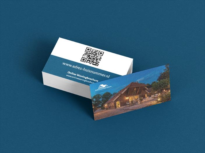 Visitekaartjes Online Woningbrochure met QR code